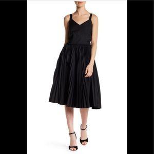 Few Moda Black Pleated Midi Dress